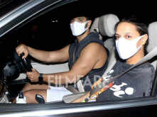 Angad Bedi and Neha Dhupia clicked together for a long drive