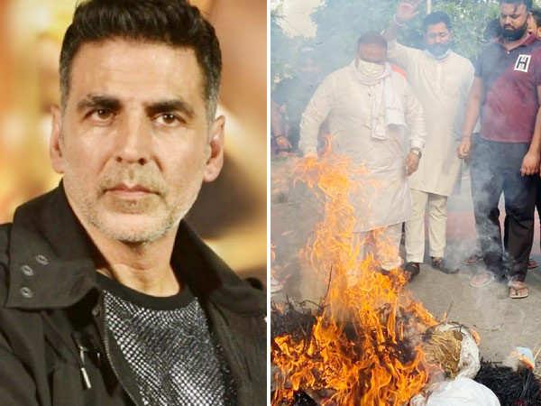 Akshay Kumar's Effigy Burnt In Chandigarh As A Protest Against Prithviraj Film Title