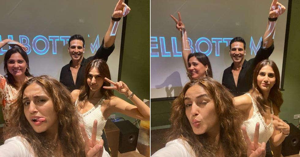 Akshay Kumar, Vaani Kapoor's selfies from Bell Bottom screening are pure fun