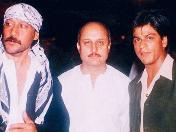 Anupam Kher Shares A Rare Throwback Picture Of Himself With Shah Rukh Khan and Jackie Shroff