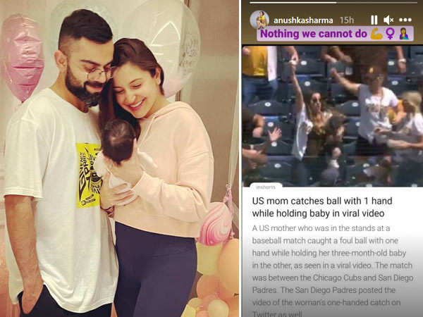Anushka Sharma Reacts To The Video Of A Mother Taking A One-Handed Catch While Holding Her Baby