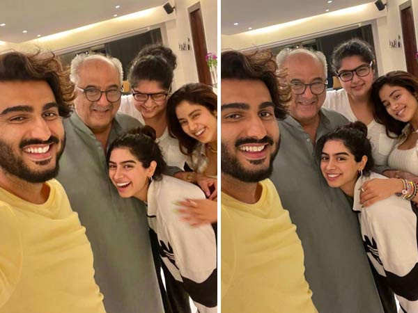 Arjun Kapoor, Janhvi Kapoor and their siblings have a Father's Day dinner with Boney Kapoor