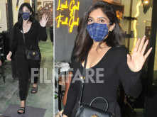 Bhumi Pednekar clicked outside a salon flaunting her new hairdo