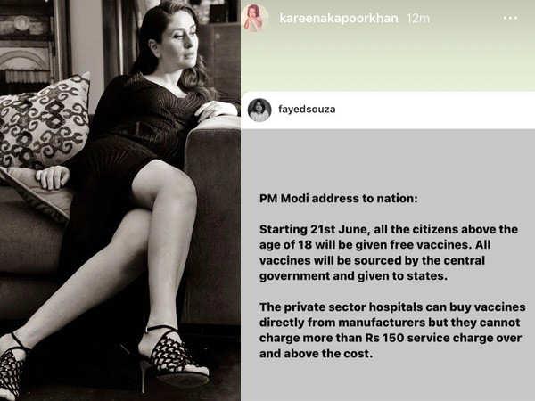 Kareena Kapoor Khan posts an update about vaccination