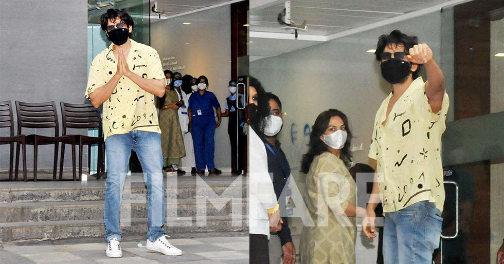 Photos: Kartik Aaryan clicked as he heads out to get jabbed