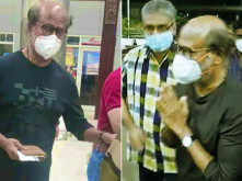 Rajnikanth travels to America for his annual medical check-up,pictures from Chennai airport go viral