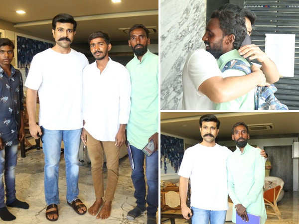 Ram Charan meets up with fans who walked 231 kms to see him