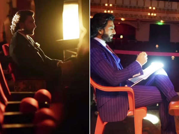 Ranveer Singh shares pictures from the sets of his secret project