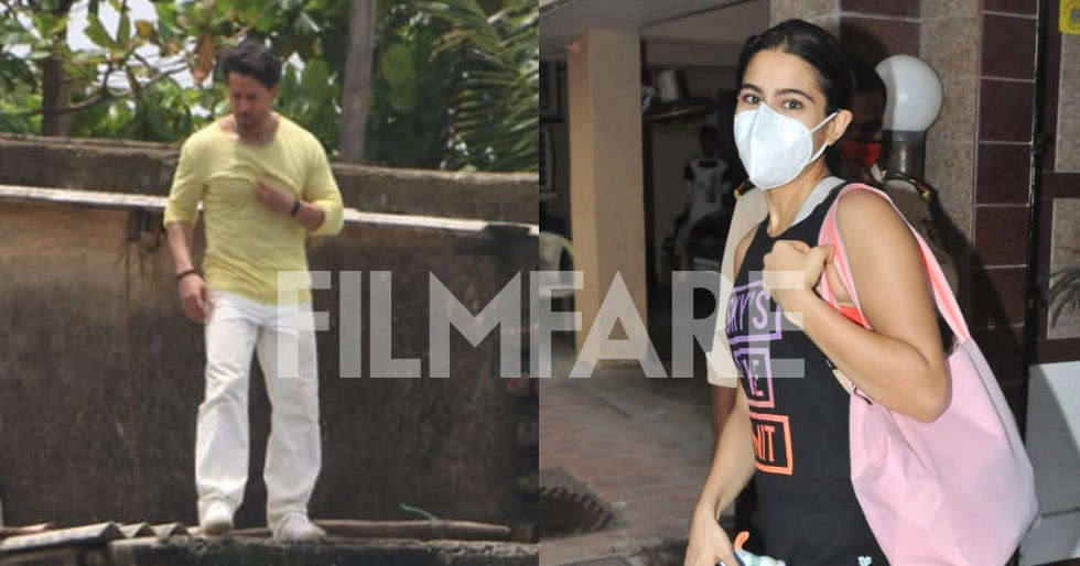Pictures: Sara Ali Khan, Tiger Shroff clicked in the city