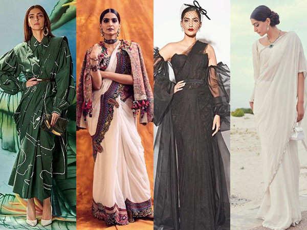 10 ways to elevate your saree like Sonam Kapoor