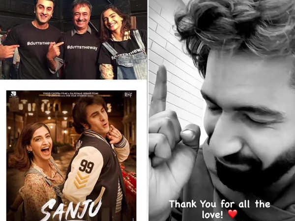 Vicky Kaushal and Sonam Kapoor Ahuja celebrate 3 years of Sanju