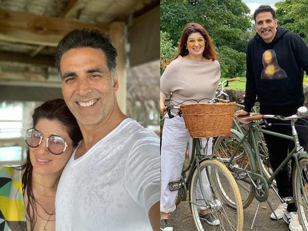 Akshay Kumar and Twinkle Khanna unwind on their vacation amidst the pandemic