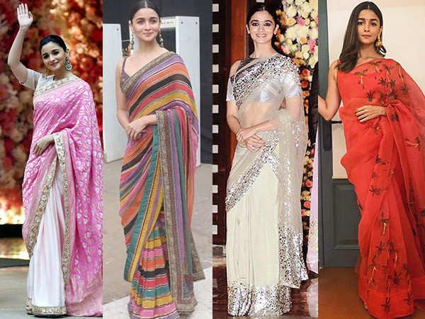 Alia Bhatt Sarees That Serve As Perfect Ethnic Wear Inspiration