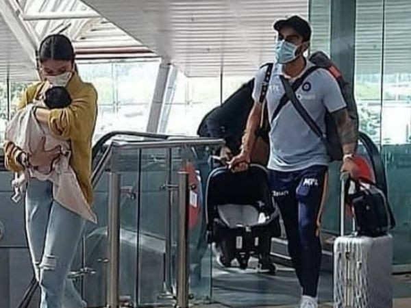 Anushka Sharma and Virat Kohli head to Ahmedabad with baby Vamika