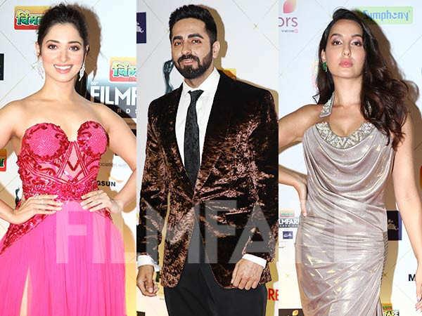 Ayushmann Khurrana, Alaya F, Nora Fatehi rock the red carpet of Vimal Elaichi Filmfare Awards 2021