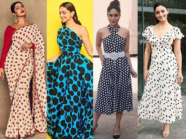 B-Town Beauties Tagging Along With The Polka-Dot Trend