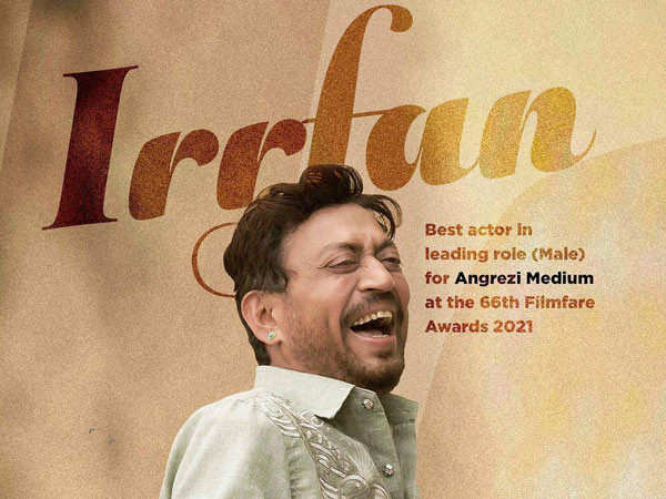 Angrezi Medium makers shares a heartfelt note on the late actor Irrfan's win at Filmfare Awards