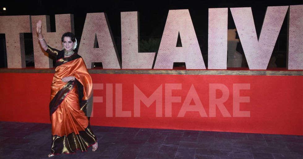 Kangana Ranaut at Thalaivi's trailer launch in Chennai