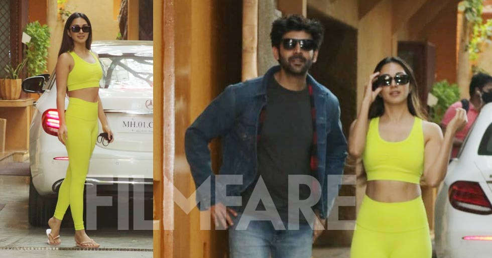 Kartik Aaryan and Kiara Advani clicked together in the city
