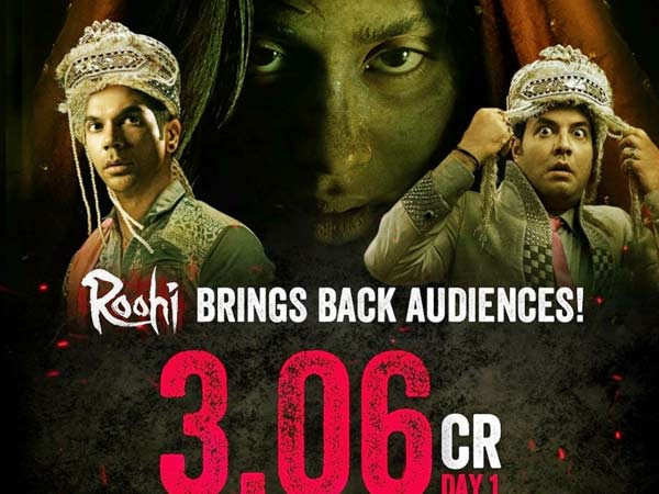 Janhvi Kapoor, Rajkummar Rao, Varun Sharma starrer Roohi earns Rs 3.06 crores on Day 1