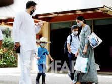 Sara and Taimur Ali Khan snapped with father Saif Ali Khan
