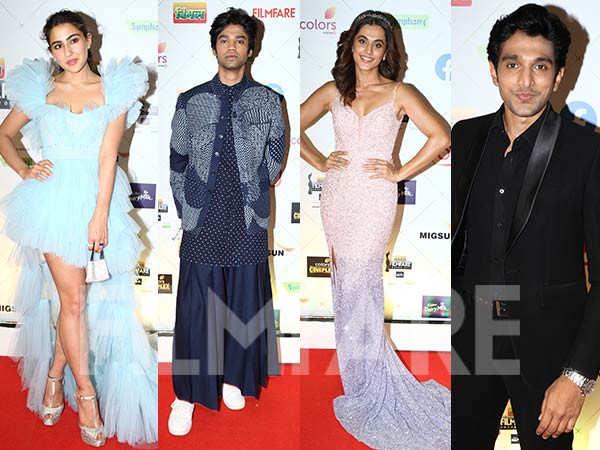 Taapsee Pannu, Sara Ali Khan, Sanjana Sanghi at the 66th Vimal Elaichi Filmfare Awards