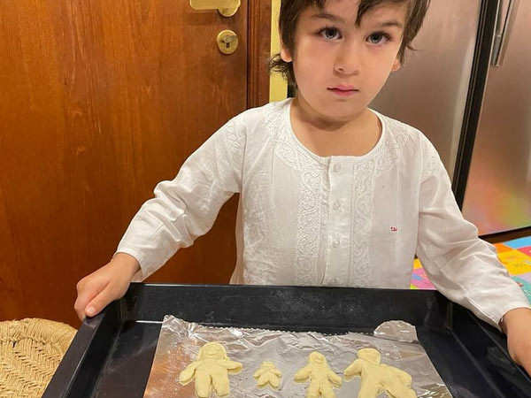 Taimur Ali Khan includes his baby brother in batch of family cookies