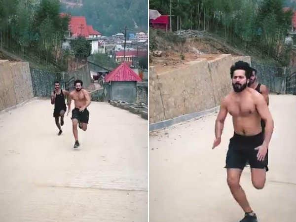 Varun Dhawan has his beast mode on as he shoots for Bhediya