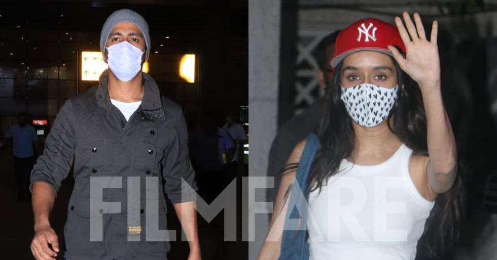 Shraddha Kapoor and Vicky Kaushal clicked in the city