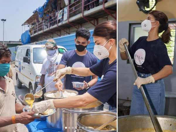 Jacqueline Fernandez visits Roti bank to provide free meals to people in need