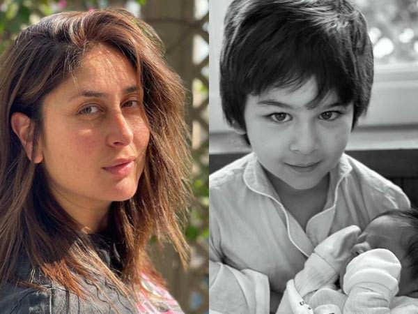 Kareena Kapoor Khan shares a glimpse of her newborn with big brother Taimur