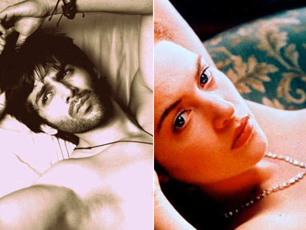 Kartik Aaryan's compares his latest shirtless photo to Kate Winslet's nude scene from the Titanic