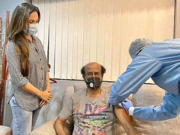 Picture: Rajinikanth takes the second dose of the vaccine