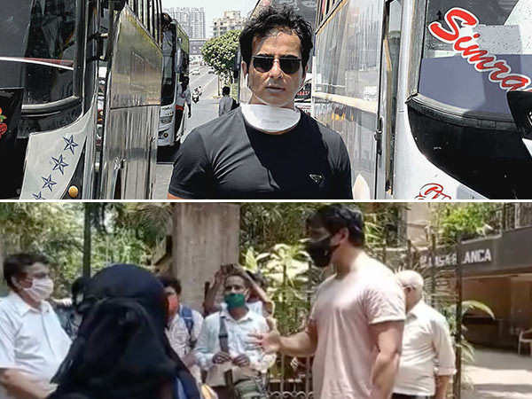 Video: Crowd Gathers Outside Sonu Sood's House To Get Help During COVID Crisis