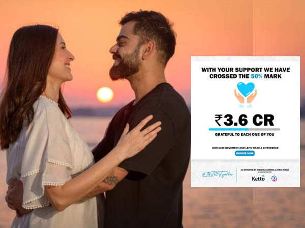 Virat Kohli and Anushka Sharma's fundraiser collects over Rs 3 crores in a day