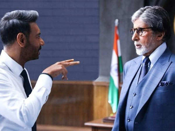 Ajay Devgn shares a cool still from MayDay on Big B's birthday