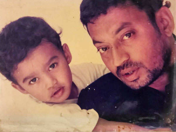 Babil shares yet another unseen click of father Irrfan Khan