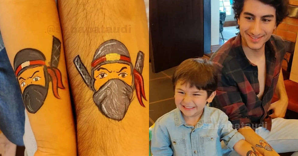 The story behind the matching tattoos between Ibrahim Ali Khan and Taimur