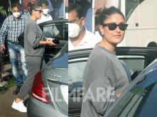 Pictures: Kareena Kapoor Khan clicked at a studio in Mumbai
