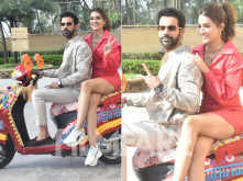 In pictures: Kriti Sanon and Rajkummar Rao step out to promote Hum Do Humare Do