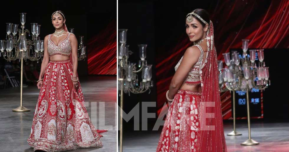 Photos: Malaika Arora looks like a dream in red as she takes the runway at LFW