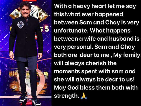 Nagarjuna talks about Sam and Chay separation