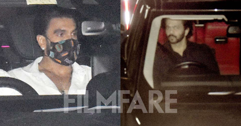 Photos: Ranveer Singh, Ajay Devgn, Rohit Shetty clicked at popular theatre in the city