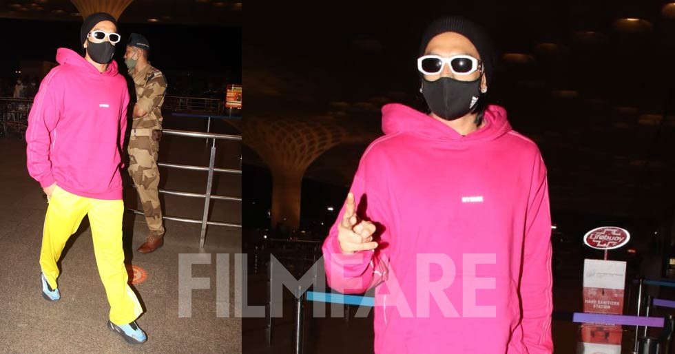 Ranveer Singh's bright avatar at the airport