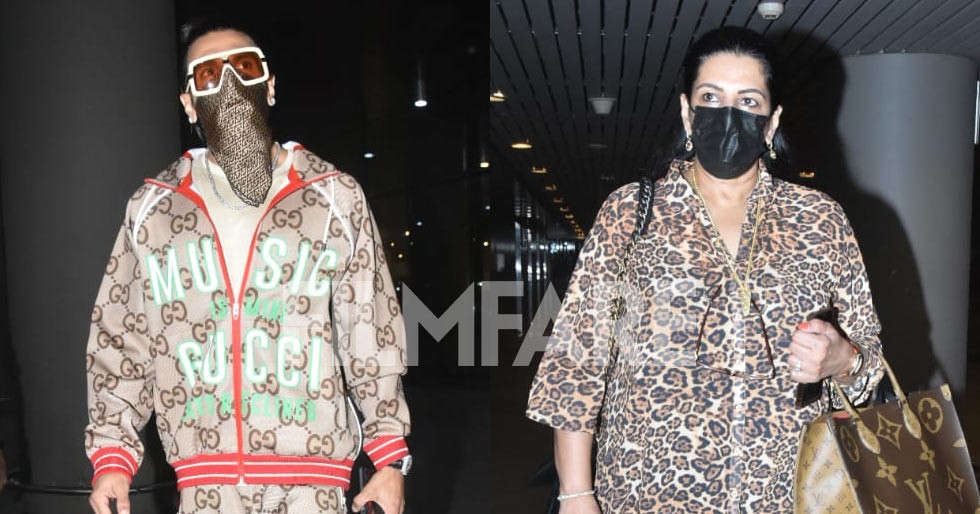 In pictures: Ranveer Singh snapped with mother Anju Bhavnani