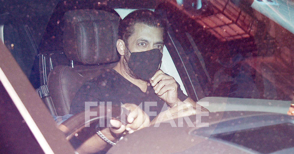In pictures: Salman Khan snapped post a dubbing session