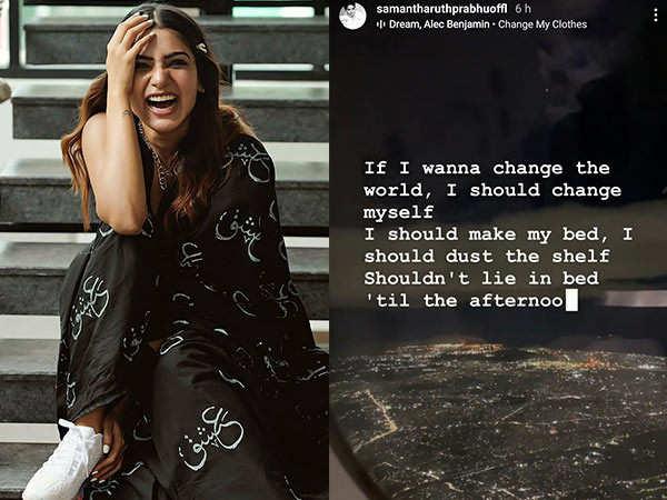 Samantha shares a social media post about change after herseparation with Naga Chaitanya