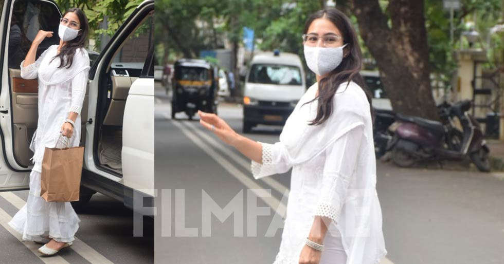 Sara Ali Khan looks pretty as she steps out in all-white ethnic wear