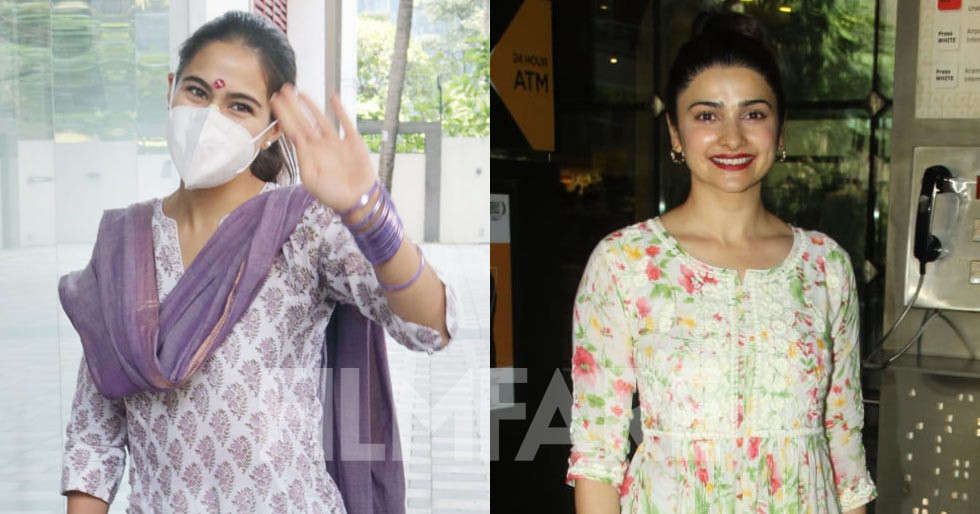 Pictures: Sara Ali Khan, Prachi Desai clicked in the city