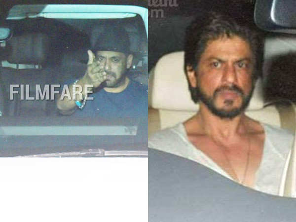 These old pictures of Shah Rukh Khan visiting Salman Khan's residence are going viral